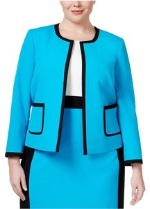 Nine West Nine West Plus Size Open-Front Bright Blue Jacket Size 24W