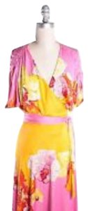 Diane von Furstenberg short dress Pink, orange, floral. on Tradesy