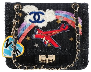 Chanel Limited Edition Airplane Flap Vintage Rare Flap Shoulder Bag