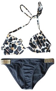 Victoria's Secret Bikini BLACK LEOPARD PUSH UP