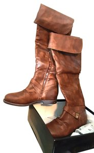 Chase & Chloe Riding Size 10 cognac , brown Boots