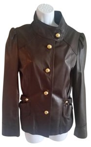 MILLY Brown Leather Jacket