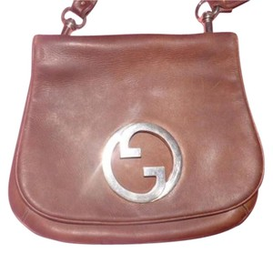 Gucci Equestrian Accents Blondie Buttery Leather Bold Gold Accents Hobo Bag