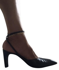 Donald J. Pliner Vintage Ankle-strap Leather Black Pumps