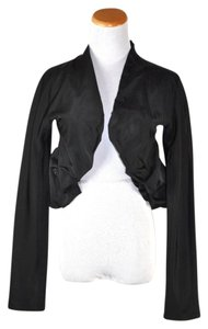 Giambattista Valli Collarless Bolero Black Blazer