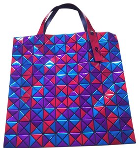 Issey Miyake Tote in Blue , purple And Red