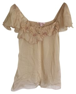 Rebecca Taylor Silk Top Cream