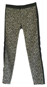 Rebecca Taylor Straight Pants Black and White Print