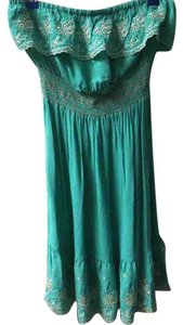 American Rag short dress Teal on Tradesy