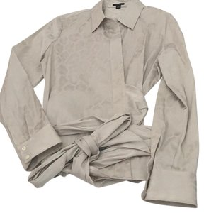 Ann Taylor Top Gray, taupe