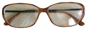 Fendi Light Brown Square Eye Optical Glasses