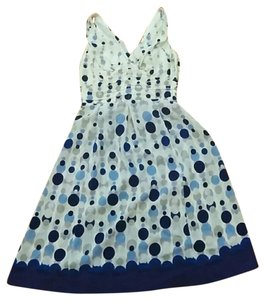 GERARD DAREL short dress blue multi Silk on Tradesy