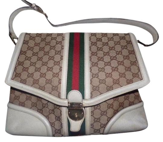 Preload https://img-static.tradesy.com/item/17271268/gucci-vintage-pursesdesigner-purses-white-and-brown-with-red-and-green-leather-canvas-satchel-0-8-540-540.jpg