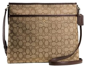 Coach Signature File khaki/brown Messenger Bag