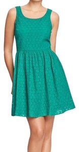 Old Navy short dress Teal Eyelet on Tradesy