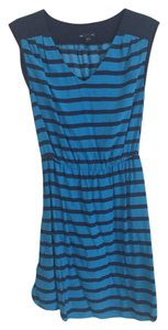 Gap short dress Navy, turquoise Striped Bright Summer on Tradesy