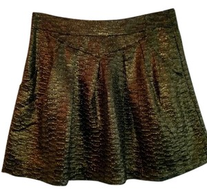 Gap Shimmer Textured Mini Skirt Gold
