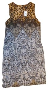 Ann Taylor Animal Print Lace Dress