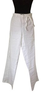Vince Wide Leg Cotton Wide Leg Pants White