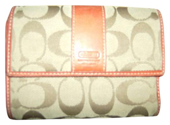 Preload https://item1.tradesy.com/images/coach-persimmon-with-brown-trifold-wallet-172720-0-0.jpg?width=440&height=440