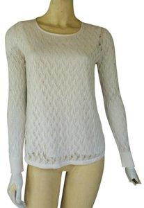 Ann Taylor Knit Silky Top Ivory