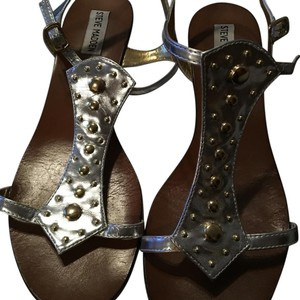 Steve Madden Silver and gold Sandals