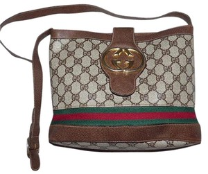 Gucci Bold Gold Accents Bucket High-end Bohemian Britt Blondie Style Large Logo Shoulder Bag