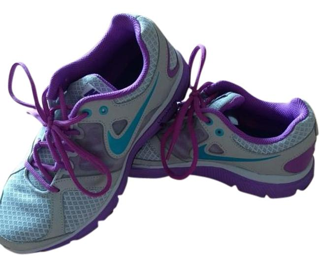 Item - Gray/Purple/Teal Lunarlon Sneakers Size US 7 Regular (M, B)