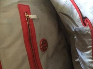 Tory Burch Hardware Satchel in red o