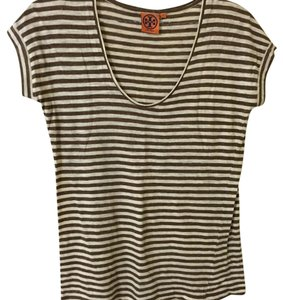 Tory Burch Top Tan and white striped