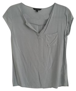 Banana Republic Pocket Casual Light Top Seafoam, blue, gray