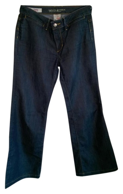 Item - Dark Wash Rinse Classic Fit Trouser/Wide Leg Jeans Size 27 (4, S)