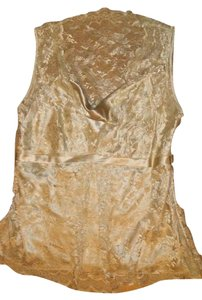 Ann Taylor Silk Top Gold