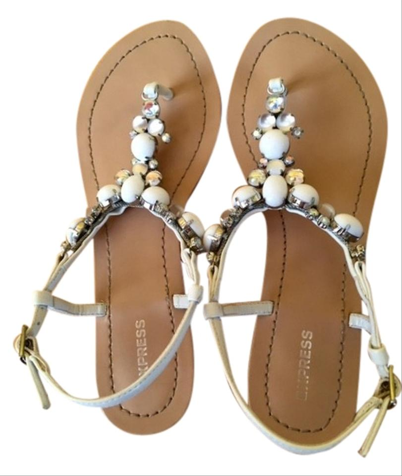 sale retailer acebe 80996 express-white-jeweled-sandals-size-us-6-regular-m-b-0-5-960-960.jpg