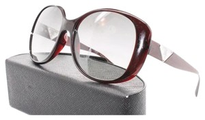 Prada Prada Burgundy Oval Triangle Sunglasses