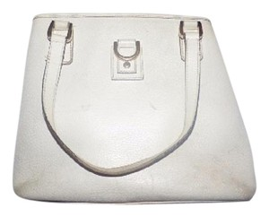 Gucci Abbey D-ring Satchel in white leather & pink lining