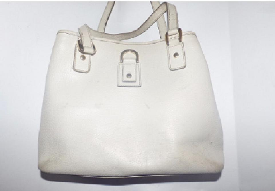 8b8eecf1f2c Gucci Abbey D-ring Extra Large Size Or Tote Great Summer Satchel in white  leather. 12345