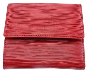 Louis Vuitton Epi Leather Bifold Wallet Red (850)
