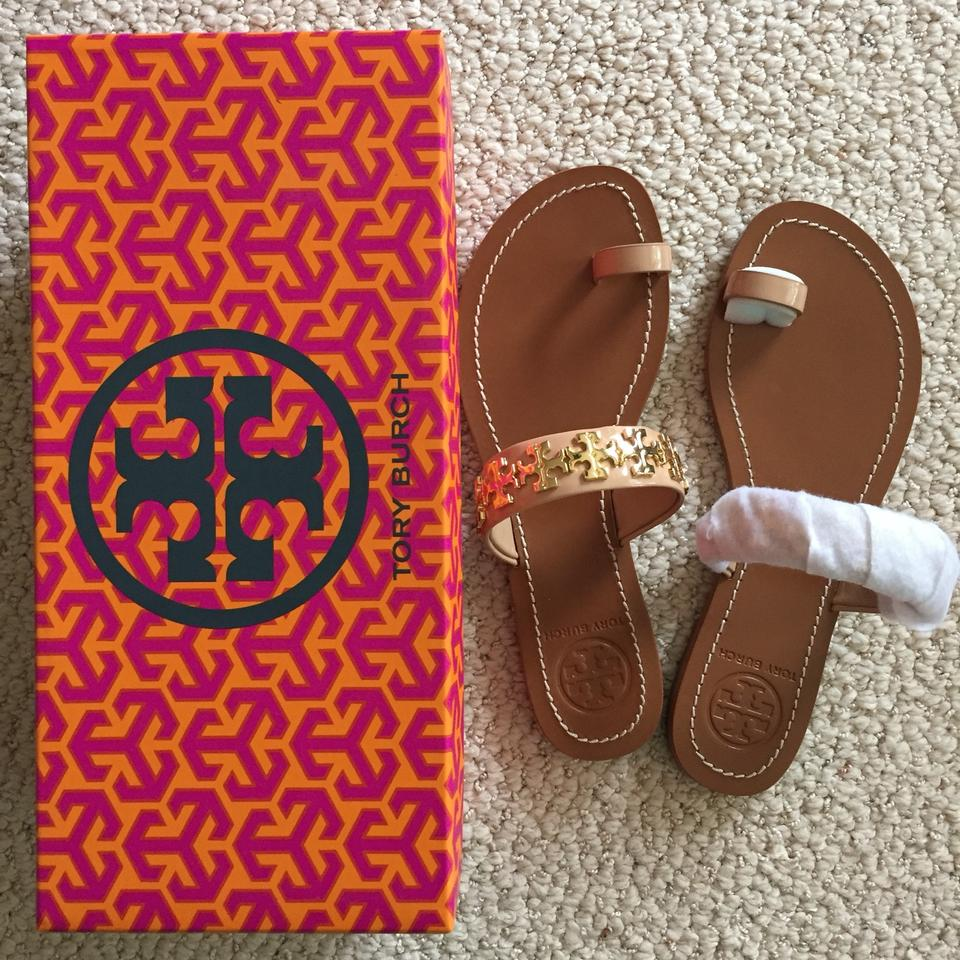 3429e454bcf Tory Burch Nude Flat Val Flats Sandals Size US 7 Regular (M