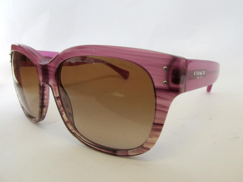 989267df6f Coach Purple Berry Silver Sienna L074 and Horn Sunglasses - Tradesy
