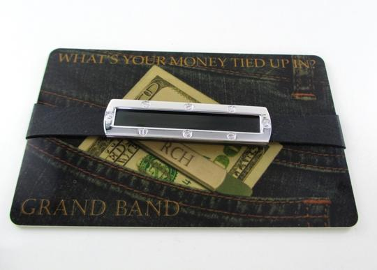the grand band GRAND BAND MONEY CLIP BLACK FRAME WITH SCREW STAINLESS STEEL GB7000S/BL EXTRA