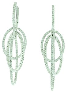 Simon G. STEAL - MUST SEE - 18k White Gold 2.75 Carats Diamond Chandelier Earrings