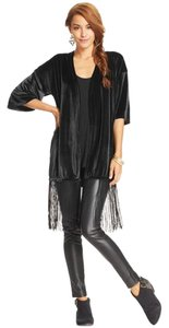 Say What? Velvet Draped Fringe Hem Cardigan