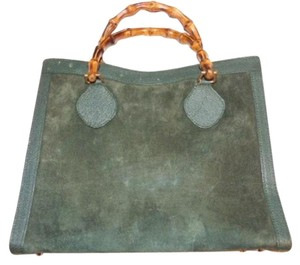 Gucci Extra Large Size Satchel in sea foam green