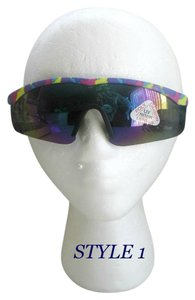 Taiwan VTG Shield Wrap Around Sunglasses colorful /flex arms 80/90 # 1