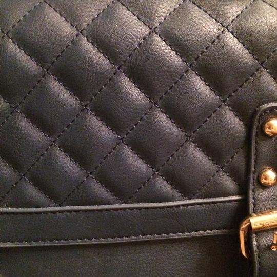 Other Quilted Faux Leather Vegan Leather Purse Bags Satchel in Navy