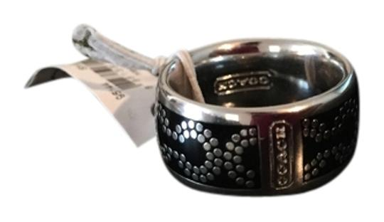 Preload https://item3.tradesy.com/images/coach-silver-and-black-signature-cc-op-art-style-95144-ring-1727457-0-1.jpg?width=440&height=440