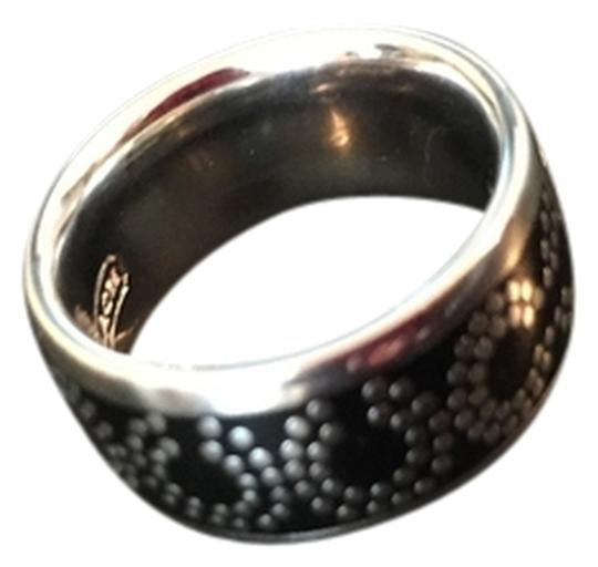 Coach Coach Signature CC Op Art Ring, Black & Silver Style #: 95144