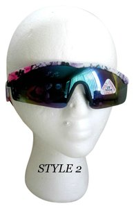 VTG Shield Wrap Around Sunglasses colorful /flex arms 80/90 # 2