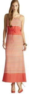 Coral/White Maxi Dress by Romeo & Juliet Couture Maxi Striped